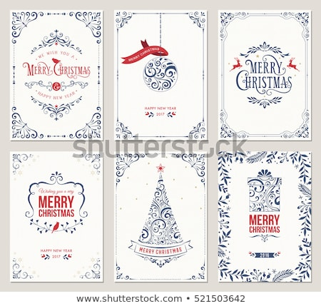 christmas decorative frame stock photo © oblachko