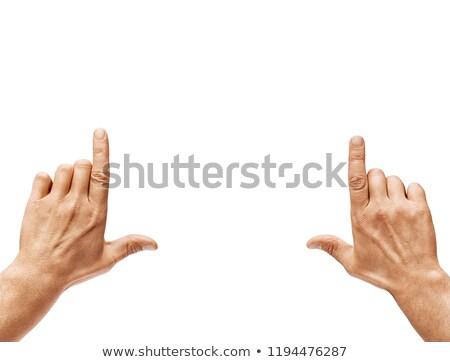 handen · directeur · muziek · leraar · silhouet · manager - stockfoto © lalito