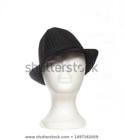 赤 · フェドーラ · 美しい · ブロンド · 女性 · 帽子 - ストックフォト © elisanth