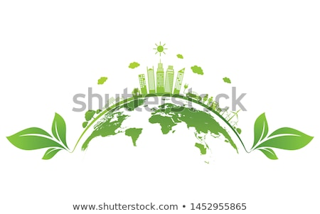 Green planet. Business logo stock photo © -Baks-