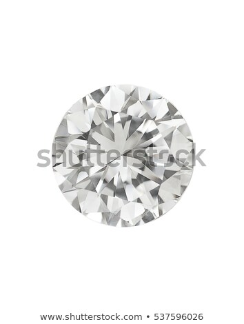 Stock photo: Top view of large round diamond isolated