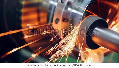 Ipari fém háttér fal absztrakt terv Stock fotó © IMaster