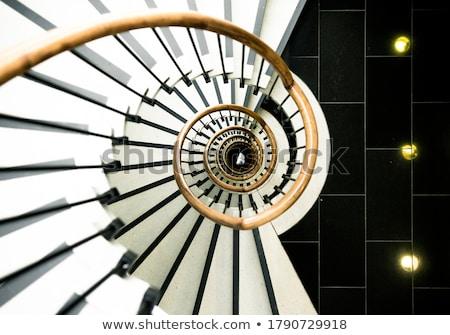 Stock foto: Mädchen · Treppenhaus · weiblichen · Sitzung · Schritte