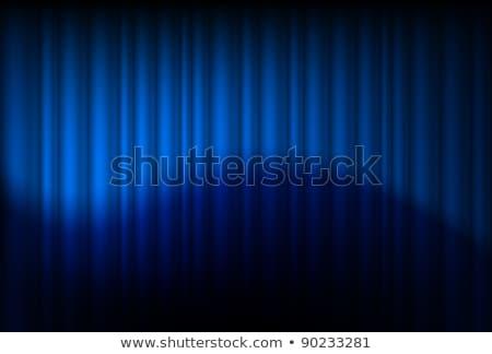 ciemne · niebieski · etapie · kurtyny · ilustracja - zdjęcia stock © dvarg