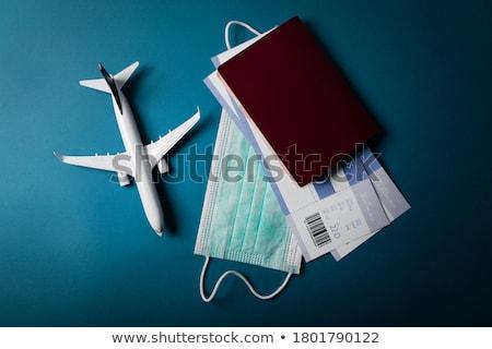 самолета моделях человека знак аэропорту красный Сток-фото © photography33