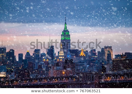 new york street scenery at christmas time stock photo © prill
