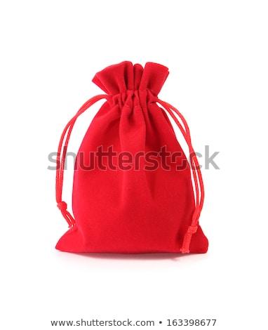 Vermelho veludo isolado branco negócio dinheiro Foto stock © pinkblue