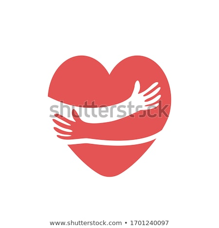 friendly happy hearts holding hands stock photo © adrian_n