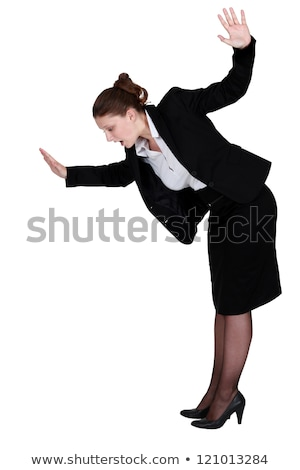Businesswoman walking imaginary tight rope Stock photo © photography33