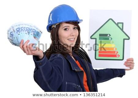 tart · hatásfok · felirat · pénz · ház · építkezés - stock fotó © photography33