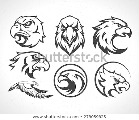 Eagle Mascot Flying Wings Badge Design stock photo © chromaco