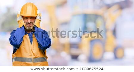 Foto d'archivio: Portrait Of An Annoyed Engineer