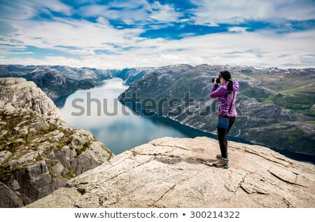 nature travel photographer woman stock photo © maridav