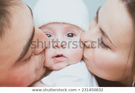 parent's kiss and son Stock photo © Paha_L