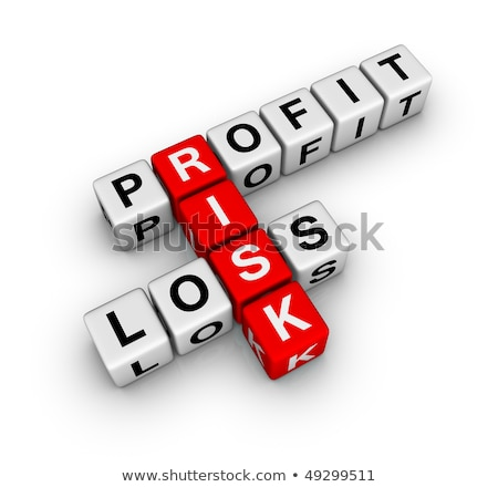 Profit, loss and risk crossword Stock photo © REDPIXEL