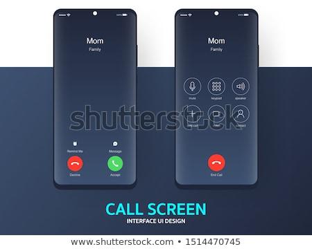 vektor · szett · telefonok · sms · üzlet · telefon - stock fotó © dahlia