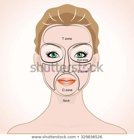 Lippen make portret jonge mooie Stockfoto © zastavkin