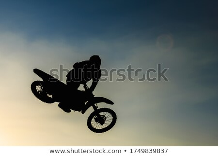 MX Rider silhouette Stock photo © vlad_star