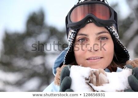 bastante · esquiador · ángulo · esquí - foto stock © photography33