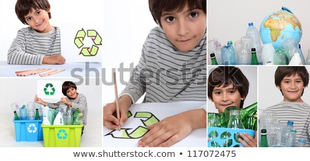 Montage of little boy recycling Stock photo © photography33
