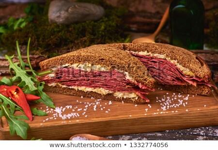 говядины · сэндвич · обеда · цвета · еды - Сток-фото © stocksnapper