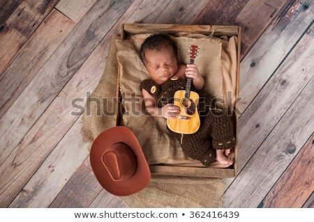 Dois pequeno guitarra pré-escolar vaqueiro Foto stock © rcarner