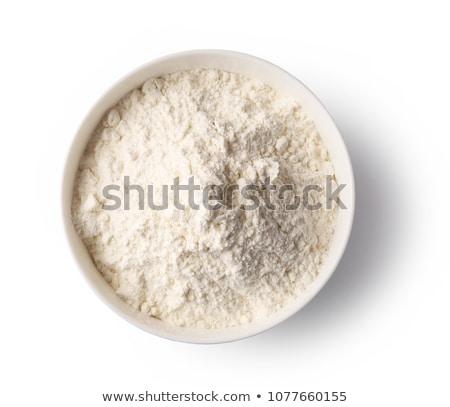 Tigela farinha ovo trigo cozinhar fresco Foto stock © M-studio