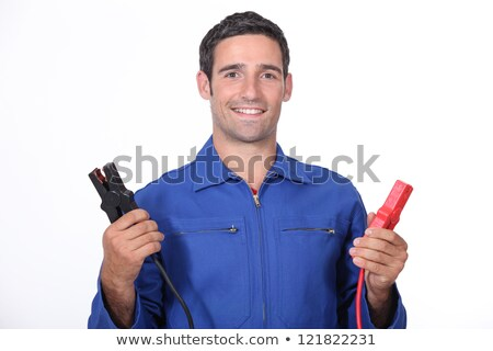 man car mechanic with alligator clips stock photo © photography33