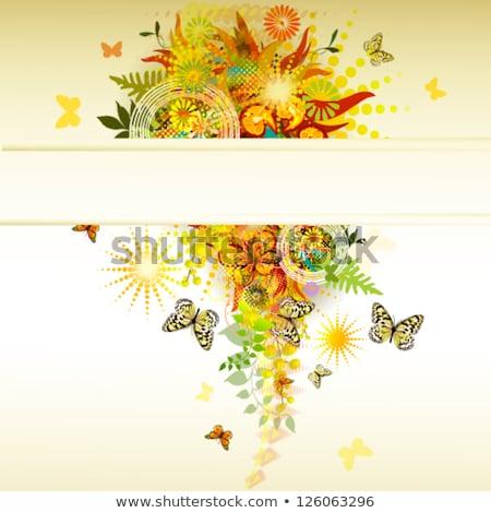 Colorful Abstract Background Flower Garden Spiral Stock photo © scheriton
