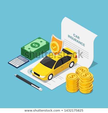 3D stylo voiture assurance rendu 3d Photo stock © nasirkhan