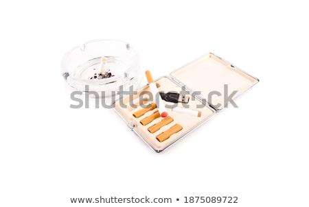 Photo stock: électriques · cigarette · réel · isolé · santé · blanche