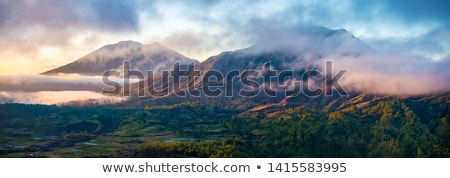 bali · vulcão · paisagem · ilha · Indonésia · azul - foto stock © tuulijumala