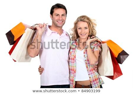 çift alışveriş adam portre depolamak aşıklar Stok fotoğraf © photography33