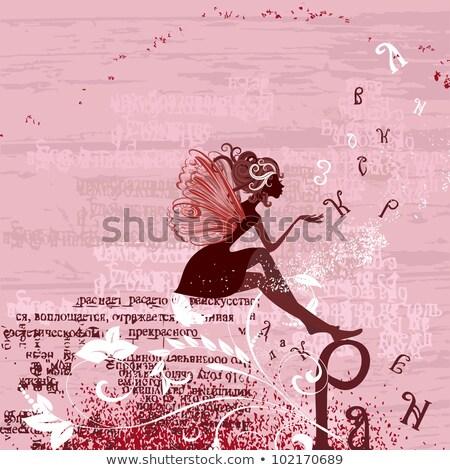 hóbortos · rajz · angyal · boldog · jókedv · béke - stock fotó © komodoempire