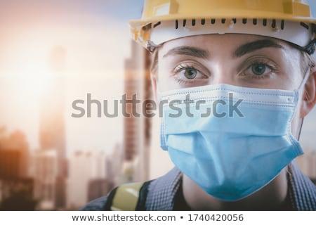 エンジニア · 青写真 · 女性 · 建物 · 孤立した - ストックフォト © lisafx