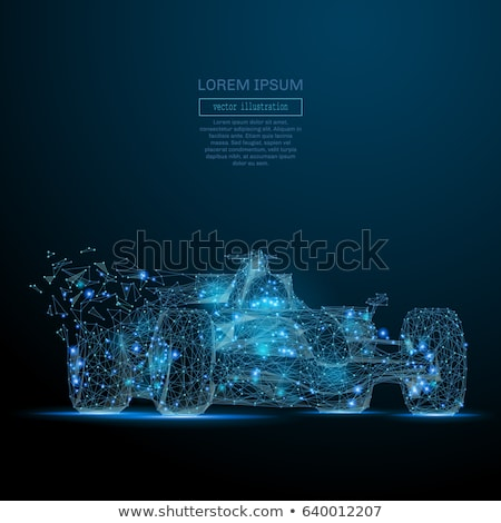 Wireframe formule 1 auto witte sport abstract Stockfoto © cla78