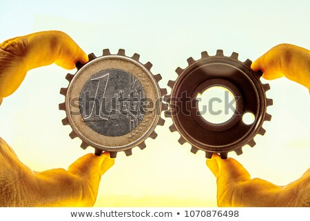 idea, plan, success in blue gear-wheels Stock photo © marinini