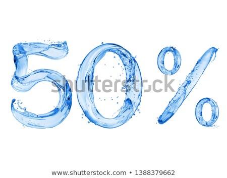 Liquidation 50 pour cent panier plein nombre Photo stock © idesign