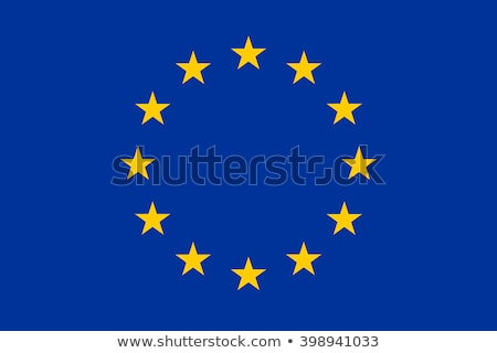 Avrupa bayrak parlak star bayraklar arazi Stok fotoğraf © idesign