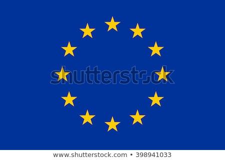 Europa vlag glanzend star vlaggen grond Stockfoto © idesign