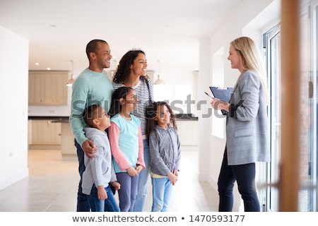 Family with realtor Stock photo © photography33