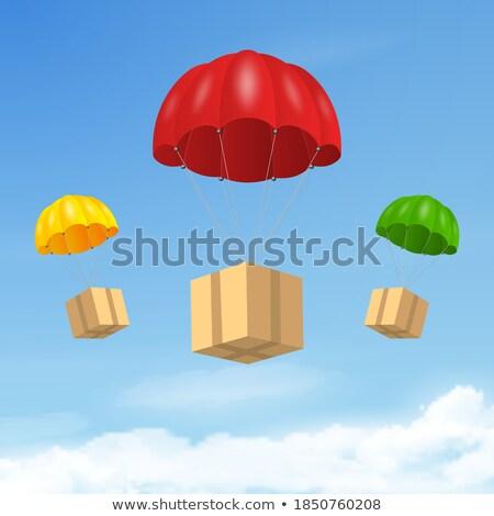 Polu niebo 3D Błękitne niebo budynku słońce Zdjęcia stock © kitch