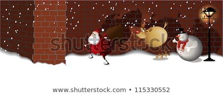 Santa Claus Street Mission Foto stock © jagoda