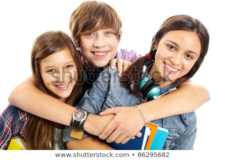 A teenage boy surrounded by girls Stock photo © photography33