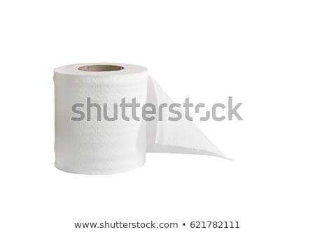 Toiletpapier geïsoleerd witte badkamer schone butt Stockfoto © ozaiachin