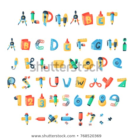 Blanche alphabet orthographe Creative up pourpre Photo stock © stryjek