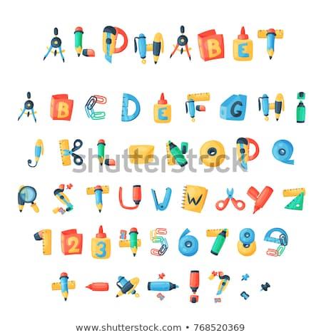 beyaz · alfabe · yazım · yaratıcı · yukarı · mor - stok fotoğraf © stryjek