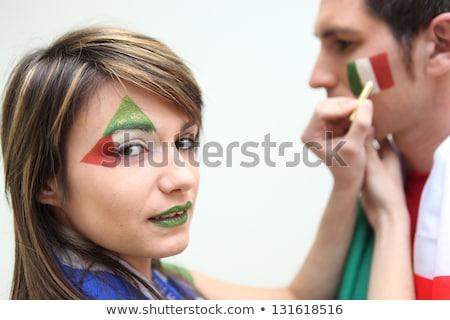 Italian football fans putting on facepaint Stock photo © photography33