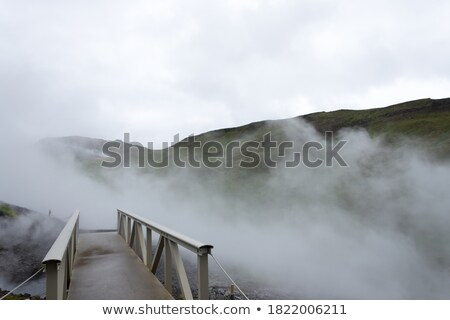 small bridge on river   iceland stock photo © tomasz_parys