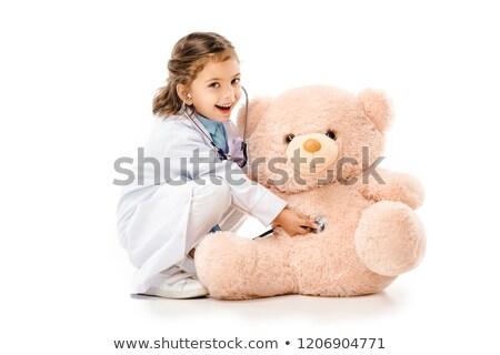 meisje · arts · kostuum · achtergrond · geneeskunde · leuk - stockfoto © photography33